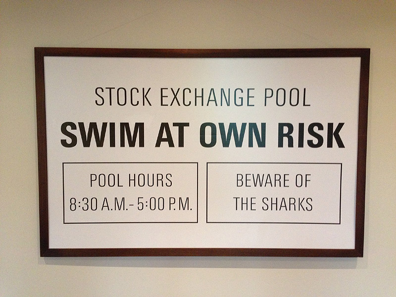 "The original ""Swim at own risk"", size: 209 x 133 cm / 82"" x 52"" (width x height) incl. frame"